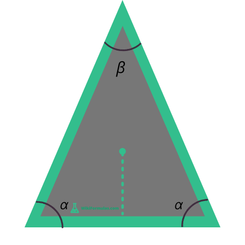 Isosceles Triangle Area Angles